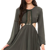 MKL Collective Dress Dreamers in Olive Green