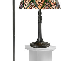 "0-027472>Cactus Bloom 21.5"" 2-Light Table Lamp And 71.5"" Floor Lamp Set Antique Bronze"