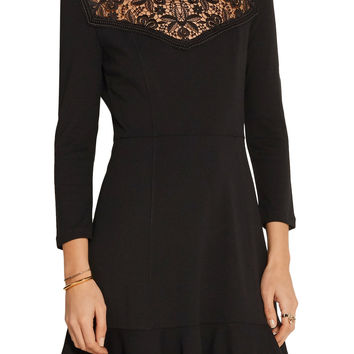 Reiko crochet-paneled stretch-ponte dress | Erdem | US | THE OUTNET