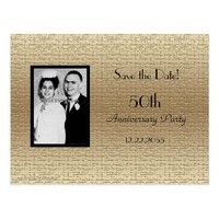 Save the Date 50th Anniversary Photo Announcement Postcard