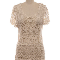 Crochet Embroidered Lace Top Ladies Lace Blouse