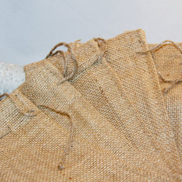 50 Burlap Bags 6x10 For Party Favors With Drawstring Jute Rustic Wedding Party Reception Supplies
