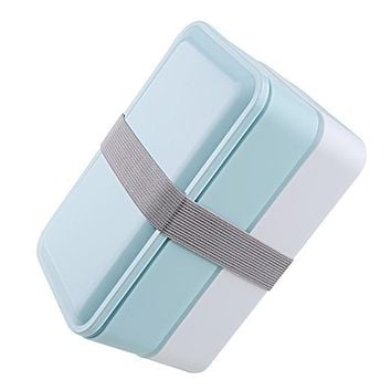 3 Colors 1000ml Double Layer Food Storage Container Microwave Oven Lunch Bento Boxes Dinnerware Lunchbox BPA Free