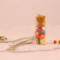 fruit  jar necklace  food jewelry by SweetArtMiniatures on Etsy