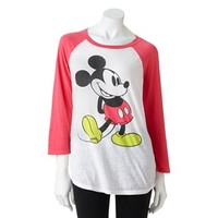 Disney Mickey Mouse Raglan Tee - Juniors