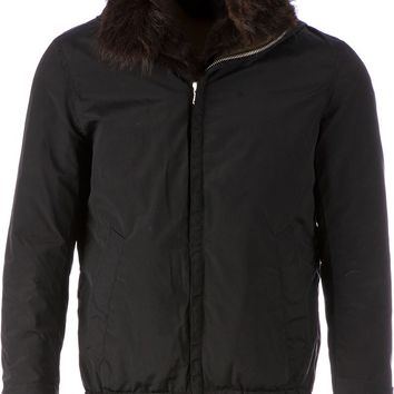 G.Guaglianone fur lining hooded bomber jacket