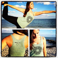 Crown Chakra Love Racerback Tank Top - Tri-Blend Black