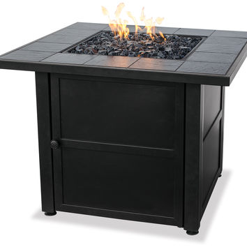 UniFlame GAD1399SP LP Gas Outdooor Firebowl w/ Slate Tile