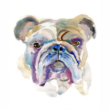 Custom Pet Portrait - 13x19inchs - Original Watercolor Painting Dogs, Cats Animals - Large Illustration
