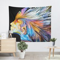 Abstract Colorful Thoughts Tapestry