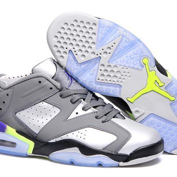 Nike Air Jordan 6 Retro Low 3M Gray/Silver Sneaker Shoe Size US 5.5-13