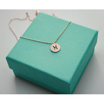 Dainty Pisces Sign Necklace
