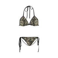 Camo Brown Custom Bikini Swimsuit