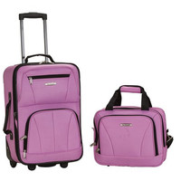 F102-PINK 2 Pc Luggage Set