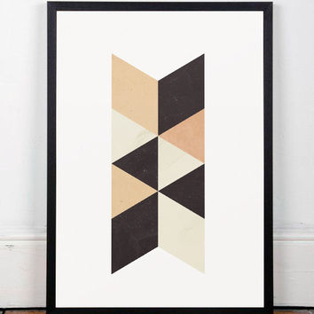 Minimalist art, Geometric print, Scandinavian print, Nordic design, Wall print, Abstract poster, Triangles print, Home art, A3 poster, Art