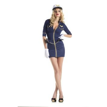 Be Wicked BW1422C 2 Piece Costume Fly Me Pilot women's costume
