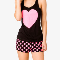 Hearts & Dots PJ Set
