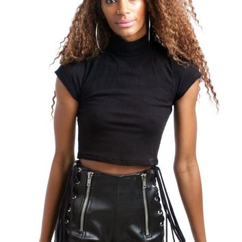 PRE-ORDER: Retrofuturism Mock Neck Crop Top