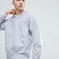 Nike Archive Woven Logo Sweat In Grey AA0001-012 at asos.com