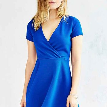 Kimchi Blue Textured Surplice-Front Dress