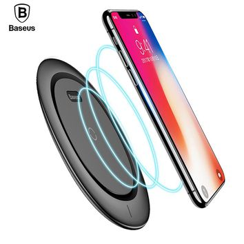 Baseus Qi Wireless Charger Pad For iPhone 8 Plus X 10 Xiaomi Samsung S8 9V Mobile Phone Desktop Wireless Charging Dock Station
