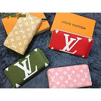 LV Fashion Colour Lady Printed Small Wallet Handbag
