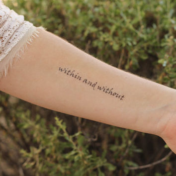 "The Great Gatsby ""Within and Without"" Temporary Tattoo"