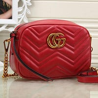 Gucci Women Shopping Chain Leather Crossbody Satchel Shoulder Bag