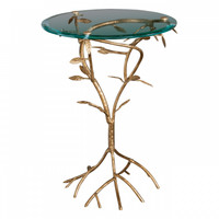 Antique Gold Leaf Branch Table
