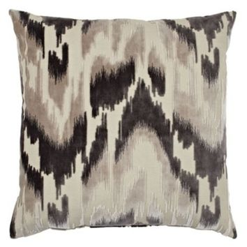 "Sketch Pillow 24"" - Charcoal 