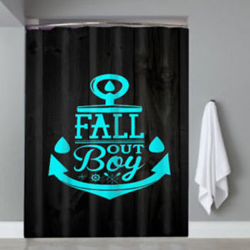 Top Famous Hot Fall Out Boy Anchor Logo Custom Shower Curtain Limited Edition