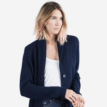 The Chunky Knit Cardigan - Navy from Everlane | Outerwear