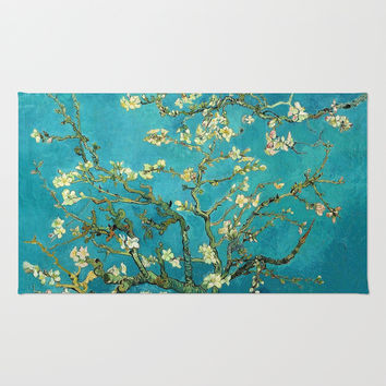 Vincent Van Gogh Blossoming Almond Tree Rug by Art Gallery