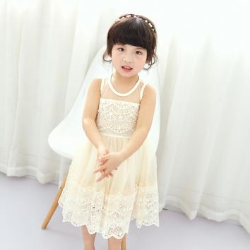 Kids Wedding Summer Party Dresses For Girls Lace Birthday Prince fb21cef2e