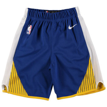 Youth Golden State Warriors Nike Royal Icon Replica Shorts