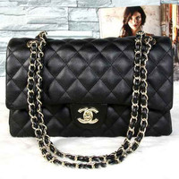 CHANEL Women Shopping Leather Chain Shoulder Bag Crossbody Satchel