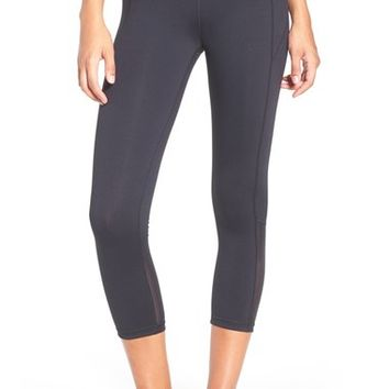 Under Armour 'Mirror' Mesh Inset Crop Leggings | Nordstrom