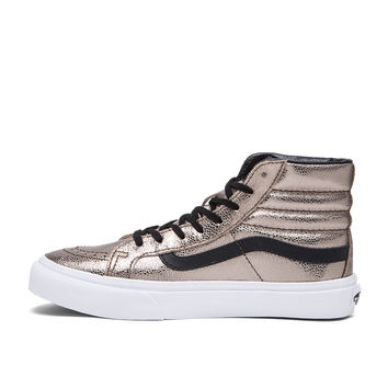Vans SK8-Hi Slim Metallic Sneaker in Bronze & Black
