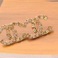 iOffer: gold stud earring 2.0*1.4CM R009 for sale