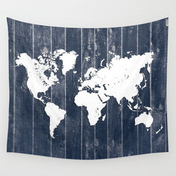 world map 98 white #worldmap #map Wall Tapestry by jbjart