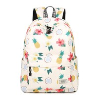 Pineapple Printing Female Summer/Students BackPack