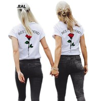 Best Friends - Rose - Pair Matching T-shirts