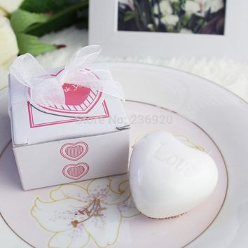 8pcs/lot Mini Heart Shape Soap Small Valentines Day Gift Cute Love Soap Party Souvenirs Daily Commodity