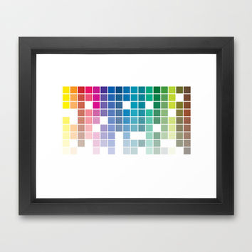 Pantonic #001 Framed Art Print by Nameless Shame