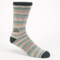 Nike Sb Space Dye Dri-Fit Mens Crew Socks Turquoise One Size For Men 24442824101