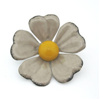 ENAMEL FLOWER BROOCH by gingerakesler2 on Etsy