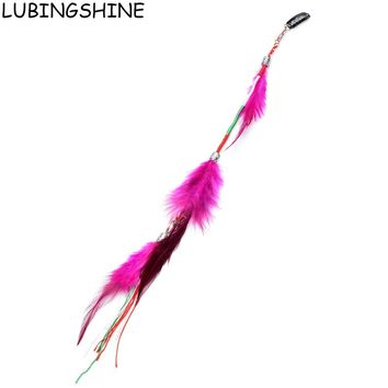 LUBINGSHINE Long Feather Hair Clip Hairpin Headband Hair Extension Feathers Hair Accessories Jewelry Wig JJAL ZH114