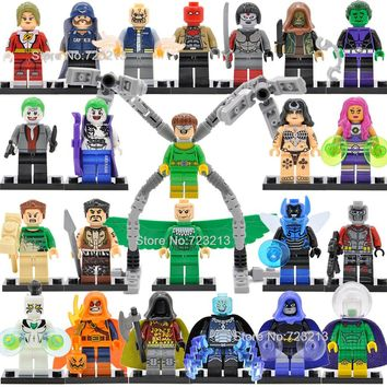 Single Super Hero White Tiger Doctor Octopus Legoingly Figure Starfire Vulture Raven Mysterio Robin Electro Building Blocks Toys