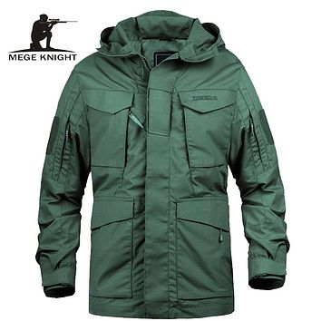 Mege Brand M65 Military Camouflage Male clothing US Army Tactical Men's Windbreaker Hoodie Field Jacket Outwear casaco masculino