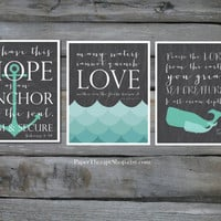 Hope as an ANCHOR Bible Verse 8 x10 print Hebrews 6:19